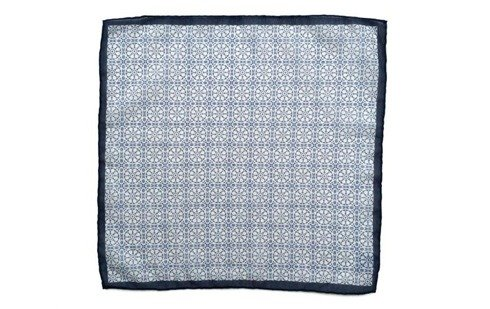 Cotton-Silk Mosaic Pocket Square
