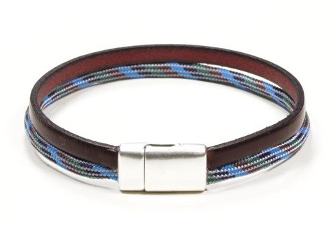 Leather and rope bracelet