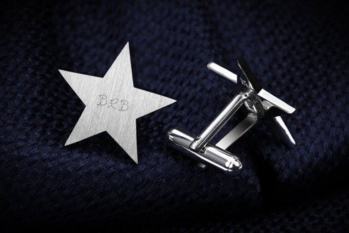 Silver Cuff Links Star