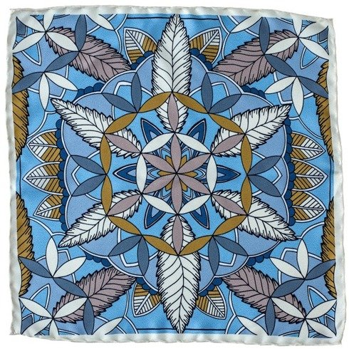 silk pocket square mandala