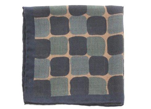 wool & silk geometric pocket square