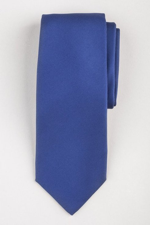 BLUE SIX FOLD MACCLESFIELD TIE
