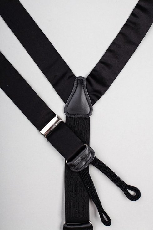 Black Macclesfield silk BRACES