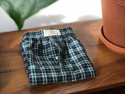 Boxers Green-Navy Plaid