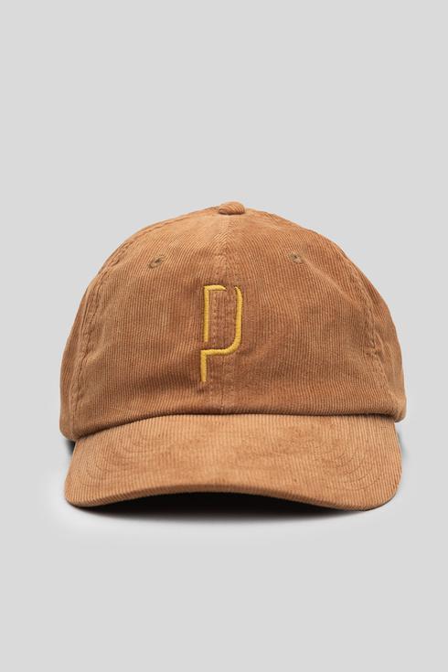 "Brown corduroy baseball caps ""Poszetka"""