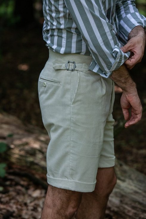Corduroy shorts off white