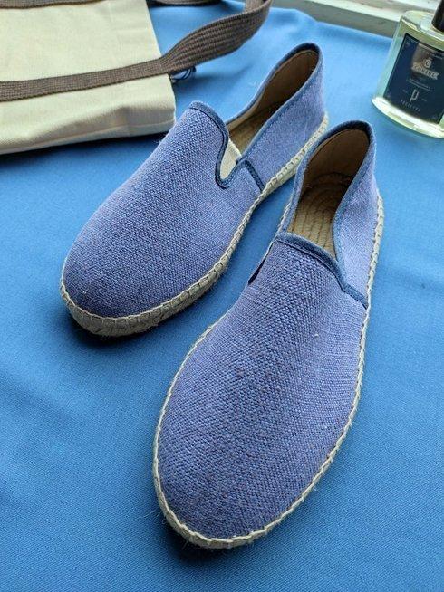 Cornflower blue Linen Espadrilles