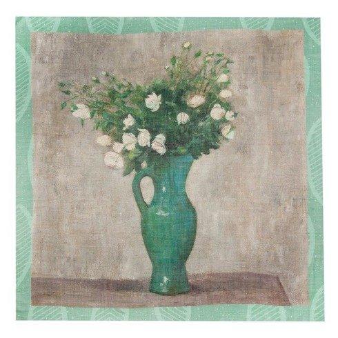 """Flowers"" Wool and Silk scarf 100 cm"