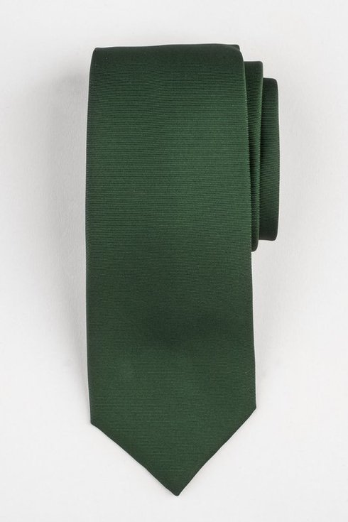 GREEN SIX FOLD MACCLESFIELD TIE