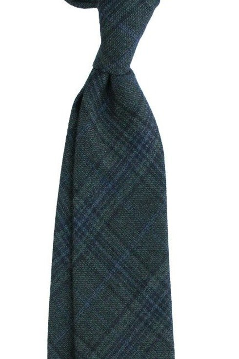 GREEN UNTIPPED WOOLEN TIE Pow