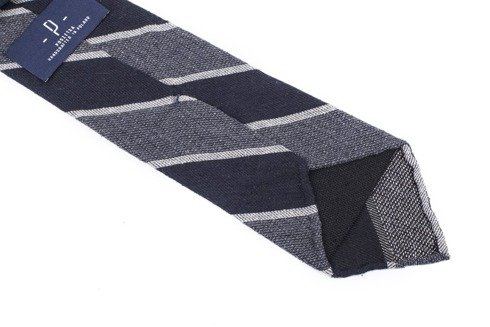 GREY Raw silk tie