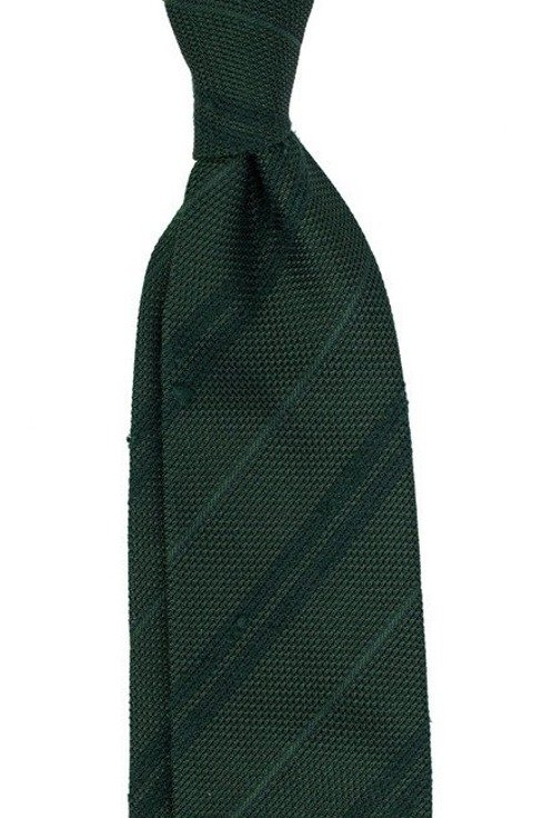 Grenadine tie with shantung stripes