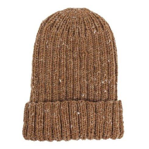 Hand-knit honey yarn beanie