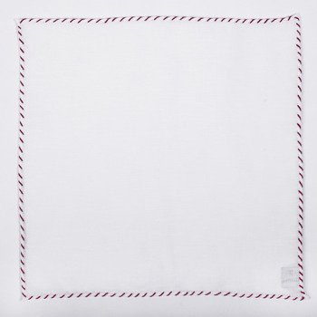 LINEN POCKET SQUARE - ONE thread-color (ON JULY 10-28 JULY, WE DO NOT IMPLEMENT ORDERS)