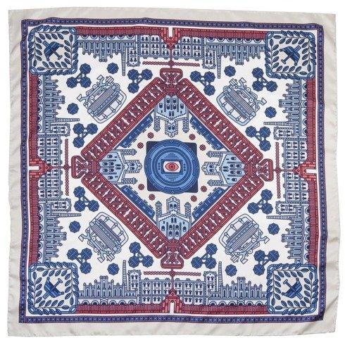 """Łódź"" Silk scarf 45 cm Jan Kallwejt"