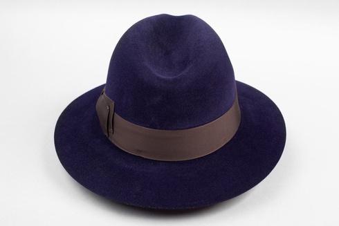 Navy blue fedora hat