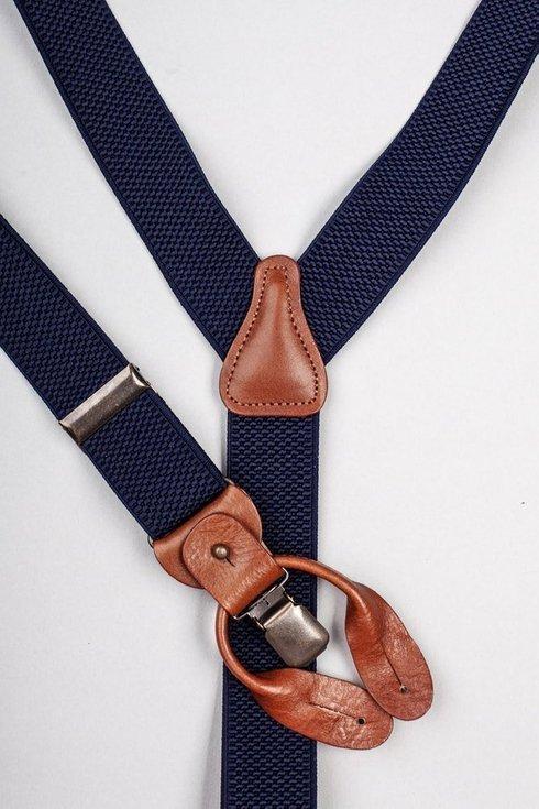 Navy elastic braces 3,5 CM