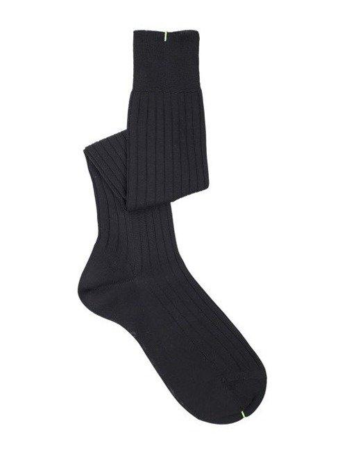 Over the calf socks black