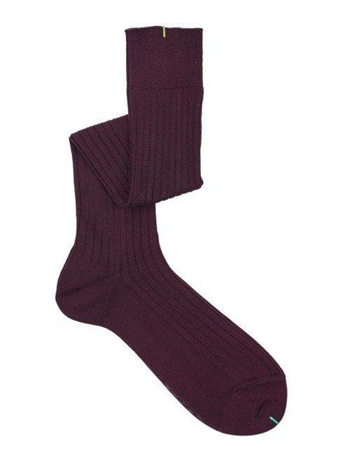 Over the calf socks burgundy