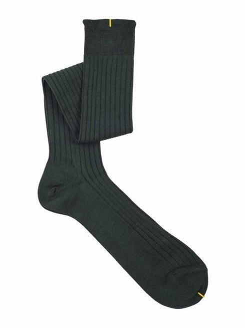 Over the calf socks green