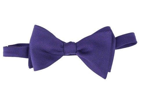 Plum Macclesfield bow tie