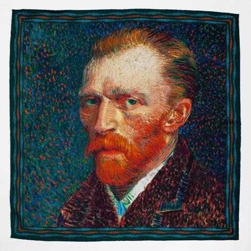 Pocket square 'self portrait' Vincent van Gogh