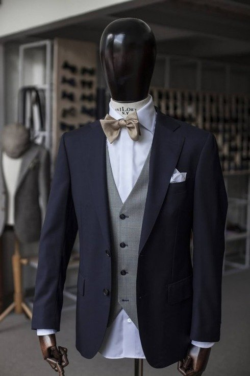 Preorder: Blue navy Classic suit 'Fred' 100% wool VBC