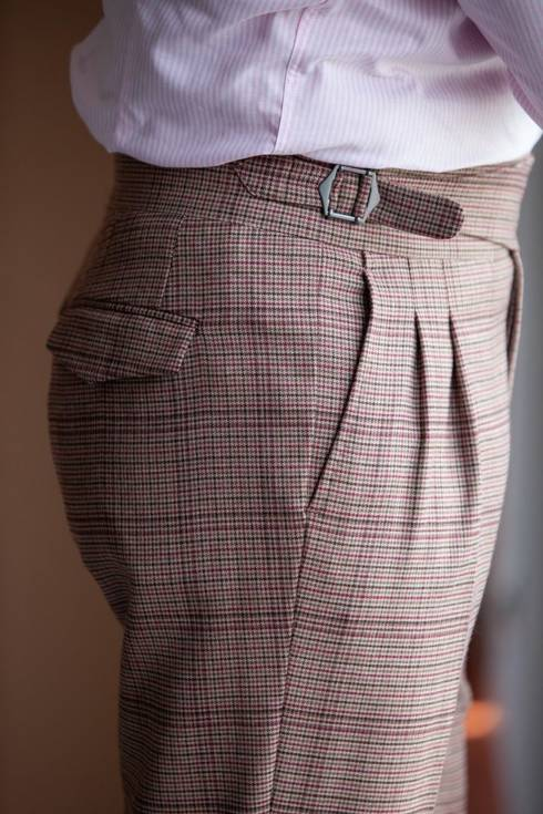 """Preorder: Houndstooth gurkha trousers """"Alfred"""""""
