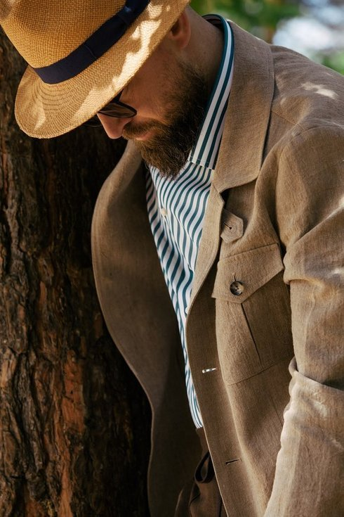 Preorder: linen safari jacket 'Artuhr'
