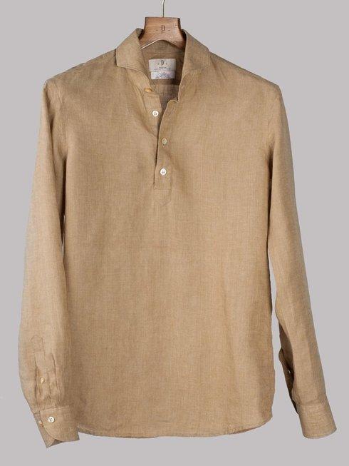 Preorder: linen spreed collar popover shirt Albini
