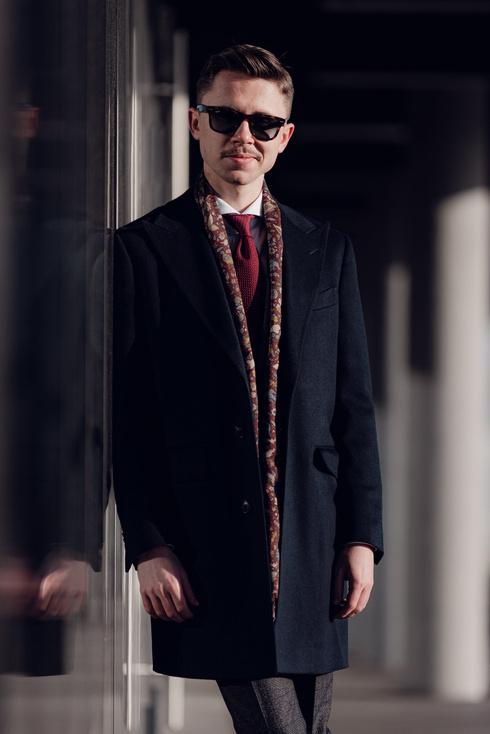 Preorder: navy overcoat