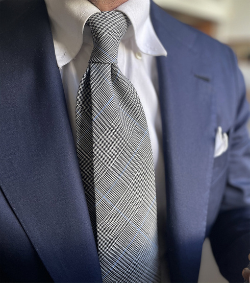 Prince of Wales UNTIPPED HANDROLLED TIE