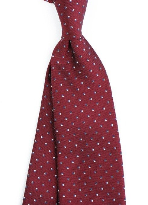 SIX FOLD SILK BURGUNDY TIE