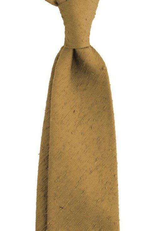 Shantung tie saffron