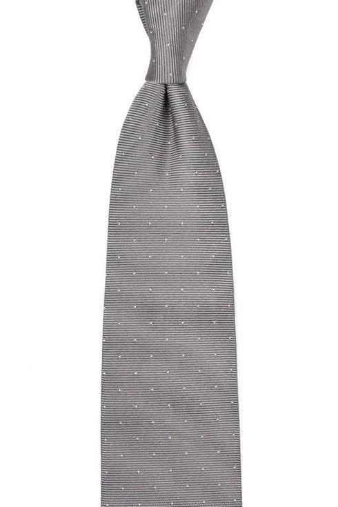 Silk jacquard polka dots tie 9 cm x 158 cm