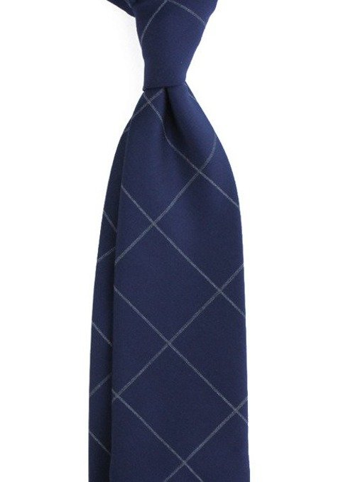 UNTIPPED WOOLEN checkered TIE
