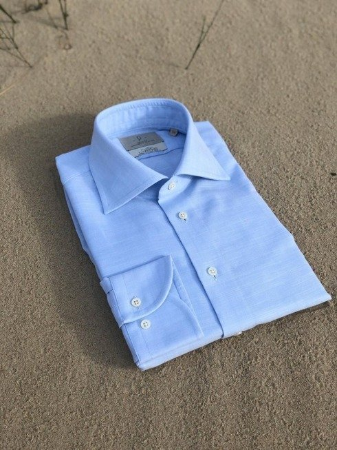 blue light Albini cotton shirt