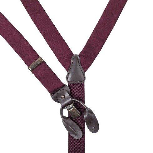 burgundy silk BRACES
