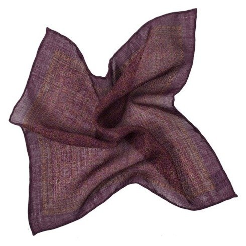 cherry medallion pocket square