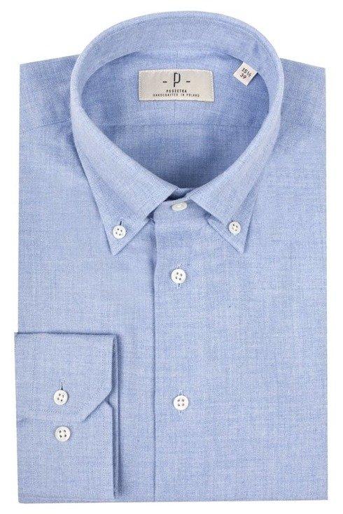 flannel OCBD collar shirt