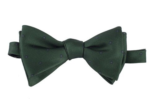 green Macclesfield bow tie