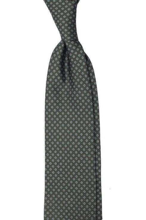 green Macclesfield tie