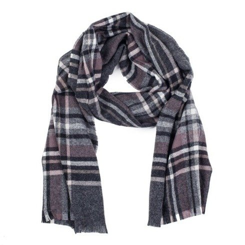 grey cashmere classic scarf
