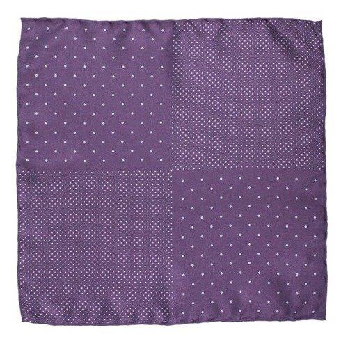 lilac pocket square polka dots