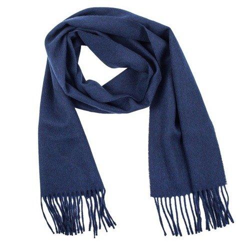 navy woolen classic scarf