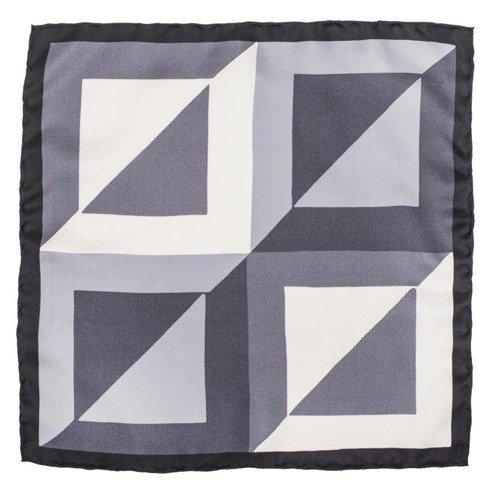pocket square grey squares