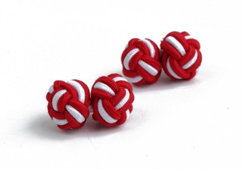 red and white silk knots