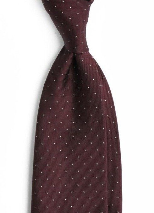 silk tie with silver dots