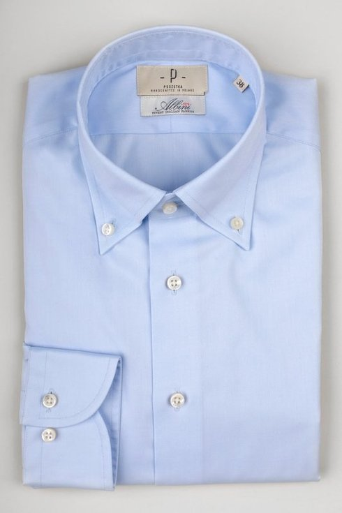 sky blue button down Albini shirt