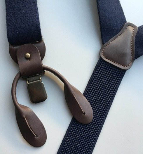 tweed BRACES 3,5 CM CLIPS & BUTTONS